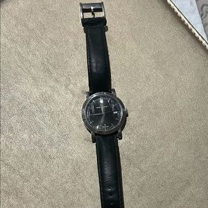 Men's Burberry Watch with black leather band